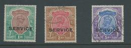 India Officials 1912 - 1922 KGV One Rupee FM , 2R & 5R FU - 1911-35 Koning George V