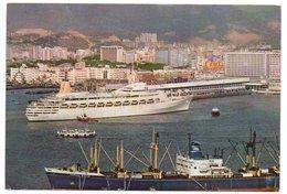 HONG KONG - OCEAN TERMINAL / SHIP / PASSENGER LINE CAMBERRA / ADV.CAMEL - YASHICA - Cina (Hong Kong)
