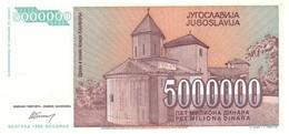 YUGOSLAVIA P. 132 5.000.000 D 1993 UNC - Yougoslavie
