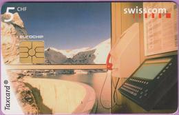Télécarte Suisse °° SE.44. Barrage Emosson - 5CHF - CL1 - 12.1998 - R. - Suisse