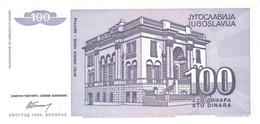 YUGOSLAVIA P. 139a 100 D 1994 UNC - Joegoslavië