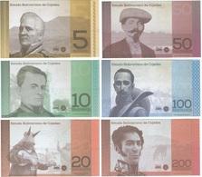 Venezuela 5, 10, 20, 50, 100 Y 200 Zamoranos Provincia COJEDES Serie Completa UNC - Venezuela