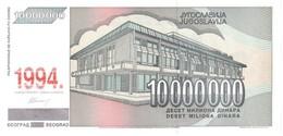 YUGOSLAVIA P. 144a 10.000.000 D 1994 UNC - Yougoslavie