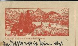Carte Illustré Obl.  N° 110 - 003   AXENSTEIN Am Vierwaldstättersee  Obl. Zürich: 19/02/1928 (Zumstein 2009) - Entiers Postaux