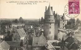 """CPA FRANCE 37 """"Langeais, Le Château Et La Ville"""" - Langeais"""