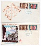 FDC FRANCE 1965 - Unesco YT 24 Et 26  - Du 23/01/1965 - 75 Paris (Réf 18-650) - FDC