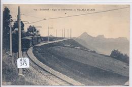 VILLARD-DE-LANS- LIGNE DE CHEMIN DE FER DE GRENOBLE AU VILLARD-DE-LANS - Villard-de-Lans