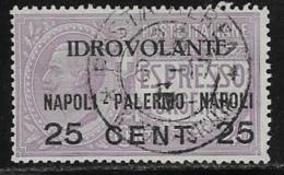 Italy, Scott # C2 Used Espresso Type Surcharged For Airmail, 1917, CV$47.50,  Signed - 1900-44 Vittorio Emanuele III