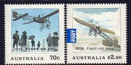 AUSTRALIA, 2014 1st AIRMAIL CENTENARY 2 MNH - 2010-... Elizabeth II
