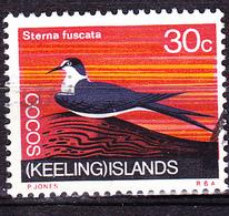 Kokosinseln - Ruß-Seeschwalbe (Sterna Fuscata) (MiNr: 17) 1969 - Gest Used Obl - Cocos (Keeling) Islands