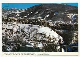 CPM - MEAILLES (Basses Alpes) - Chemins De Fer De Provence - L'Hiver à Méailles - France
