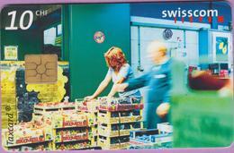 Télécarte Suisse °° SE.72. Marché Central - 10CHF - Gem2 - 01.2000 - R. - Suisse