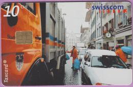 Télécarte Suisse °° SE.75. -Eboueurs - 10CHF - CL1 - 05.00-04.03 - R. - Suisse