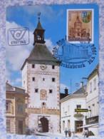 Austria 1984 FDC Maxicard - Vocklabruck City 850 Anniv. - Church - Arms - 1945-.... 2. Republik