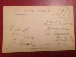 Cachet Perlé Jussy Le Chaudrier - Marcophilie (Lettres)