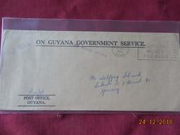Lettre De Guyane( Britannique) De 1972 Pour L Allemagne - Guyana (1966-...)