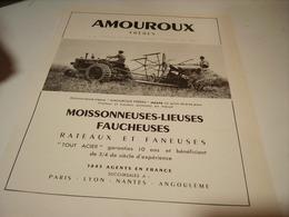 ANCIENNE AFFICHEMOISSONNEUSES FAUCHEUSES DE AMOUROUX 1949 - Transport