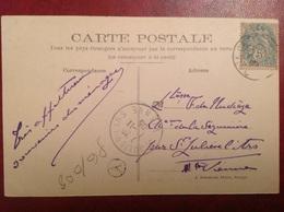 Cachet De Facteur Saint Julien L'Ars A - Marcophilie (Lettres)