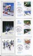 France - FDC-2009- YT 4329 à 4333- Championnats Du Monde De Ski Alpin (3env.) - 2000-2009