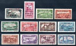 SYRIE - YT N°  167 à 178 - Neufs * - Cote: 48,00 € - Syrie (1919-1945)