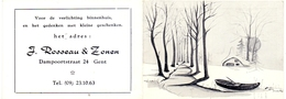 Kalender Calendrier - 1969 - Pub Reclame - Verlichting J. Rousseau & Zonen - Gent - Calendriers