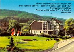 Kalender Calendrier - 1984 - Pub Reclame - Hotel Restaurant Erbacher Hof - Familie Schote - Weschnitz - Calendriers