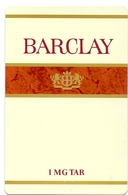 Kalender Calendrier - 1984 - Pub Reclame - Sigaretten Barclay - Calendriers