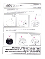 Kalender Calendrier - 1997 - Pub Reclame - Drukkerij Antoine Van Mullem - St Amandsberg Gent - Petit Format : 1991-00