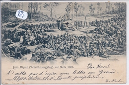 JUDICAIA- JUDAISME- METZ- JOM KIPUR VOR METZ 1870- EDITION HERMANN JUNKER- RECT/VERSO- RARE - Judaisme