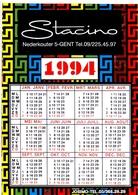 Kalender Calendrier - 1994 - Pub Reclame - Stacino - Gent - Calendriers