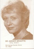Kalender Calendrier - 1983 - Pub Reclame - Verkiezingen Raad R.U.Gent - Stem De Jaeger Brigitte - Calendriers