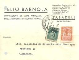 CARTA COMERCIAL  1934  SABADELL - 1931-Hoy: 2ª República - ... Juan Carlos I