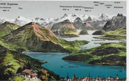AK 0113  Zugersee - Panoramakarte Um 1920 - ZG Zug