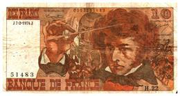 Billets >  France > 10  F 1974 - 1962-1997 ''Francs''