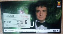 Ancien Ticket De Concert Michel Sardou Forest National 20-11-1982 - Tickets De Concerts