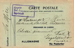 CORRESPONDANCE MILITAIRE - PRISONNIER DE GUERRE EN ALLEMAGNE - VIA PONTARLIER - Weltkrieg 1914-18