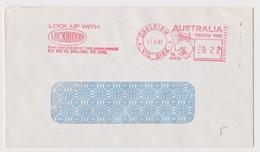 AUSTRALIA Oakleigh, Victoria Slogan Meter Postmark, 'Lock Up With Lockwood', 17 Jun 1981 (C143) - Postmark Collection