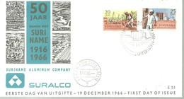 FDC 1966 SURINAM - Minerales