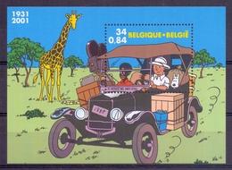 Belgie - 2001 - OBP - ** 3049 - Blok  93 - Gem. Uitgifte Met Congo ** - Unused Stamps