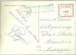 CARD  HOTEL PALACE 1956  CHECOSLOVAQUIA - Hostelería - Horesca