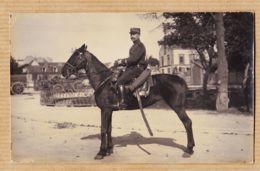 X10107 Carte-Photo TROYES Paul MARTINET 2 Chaussée Du VOULDY Cavalier Sous-Officier Sur Son Cheval CpaWW1 - Troyes