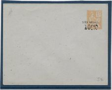 France Entiers Postaux - 15 C Orange Surchargé 0,10 Taxe Réduite - Type Mouchon - Enveloppe 123x96 Mm - Date 108 - Neuf - Postal Stamped Stationery