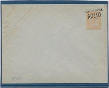 France Entiers Postaux - 15 C Orange Surchargé 0,10 Taxe Réduite - Type Mouchon - Enveloppe 123x96 Mm  - Neuf - TB - Postal Stamped Stationery