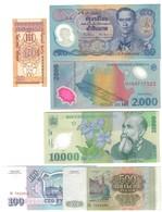 Romania Russia Tailandia 6 Banconote Diverse LOTTO 978 - Roumanie