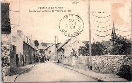 95 FONTENAY EN PARISIS - Entrée Par La Route De Villiers Le Bel - Autres Communes