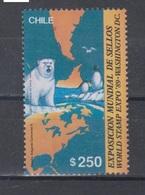 Chile 1989 Mi 1317 Mnh Expo Washington Penguins,polar Bear - Chili