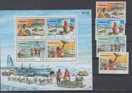 New Zealand 1984 Mi 889-92,bl 5 Mnh Antarctic Exploration - Timbres
