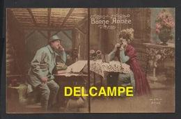 DF / FÊTES - VOEUX / NOUVEL AN / BONNE ANNÉE / SOLDAT DANS SA TRANCHÉE ECHANGEANT SES VOEUX AU TÉLÉPHONE / 1918 - New Year