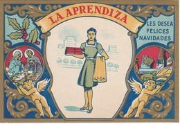 POSTAL DE FELICITACION DE LA APRENDIZA LES FELICES NAVIDADES (NAVIDAD-CHRISTMAS) - Navidad