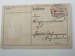 1923 , Gebühr Bezahlt , Karte Aus Burkhardtswalde - Briefe U. Dokumente